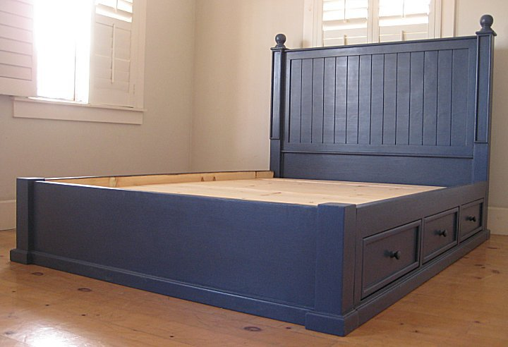 Beadboard Platform Bed For Sale Cottage Bungalow