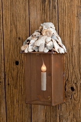 Tybee Shell Top Sconce