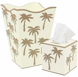Beige Palm Tree Bath Set <font color=cf2317> Discontinued</font>