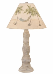 Big Four-Ring Candlestick Pot Lamp with Palm Shade
