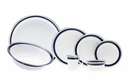Bistro Blue Enamel Dinnerware <font color=cf2317> NEW</font>