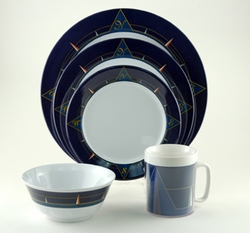 Blue Compass Melamine Dinnerware Collection with Platter