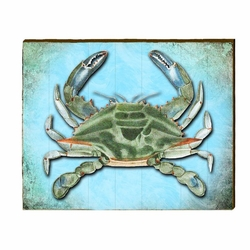 Blue Crab Beach Wall Art