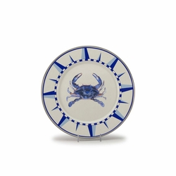 Blue Crab Dinner Plates Set of Four