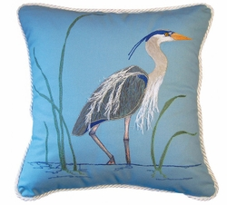 Blue Heron Indoor Pillow