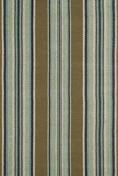 Blue Heron Stripe Cotton Rug