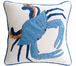 Blue King Crab Indoor Pillow