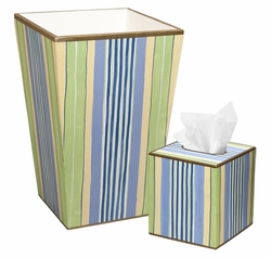 Blue Multi-Stripe Bath Set<font color=cf2317> Discontinued</font>