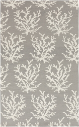 Boardwalk Light Gray & White Coral Flat Pile Rug