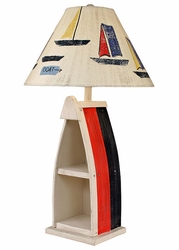 Boat Table Lamp with Primary Stripe Finish