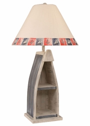 Boat Table Lamp in Cottage and Navy