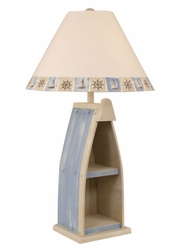 Boat Table Lamp in Weathered Blue