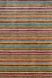 Brindle Stripe Spice Loom Knotted Rug