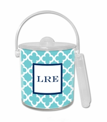 Bristol Tile Teal Ice Bucket