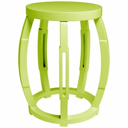 Taboret Green Side Table/Stool