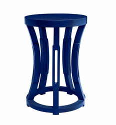 Hourglass Navy Blue Side Table/Stool
