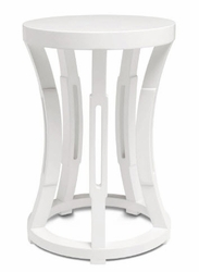 Hourglass White Side Table/Stool