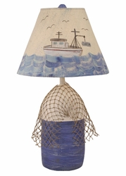 Buoy Lamp with Net & Trawler Shade
