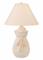 Burlap Sack of Shells Lamp