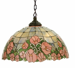 Cabbage Rose Pendant Swag Light