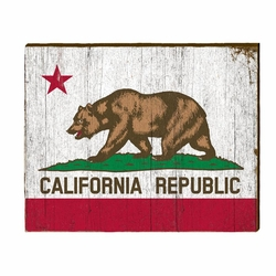 California Flag Beach Wall Art