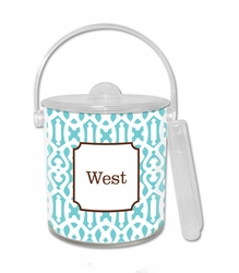Cameroon Teal Ice Bucket