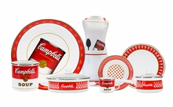 Campbells Soup Enamelware Dinner Collection <font color=cf2317> NEW</font>