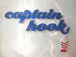 Captain Hook Beach Sign