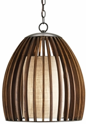 Carlin Fruitwood Pendant Light
