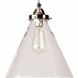 Carlton Polished Nickel Pendant Light
