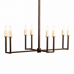 Carolina Elongated U-shaped Chandelier