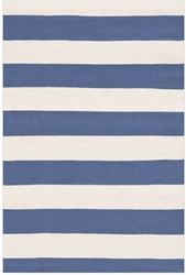 Catamaran Stripe Denim Indoor/Outdoor Rug