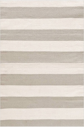Catamaran Stripe Platinum and Ivory Indoor/Outdoor