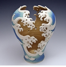 Ceramic Wave Cut Out Vase