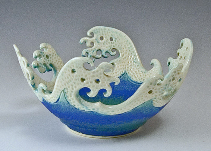 Ceramic Wave Rim Bowl For Sale Cottage Amp Bungalow