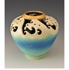 Ceramic Wave Top Vase
