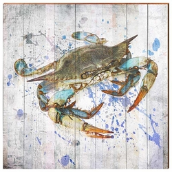 Chesapeake Blue Crab Beach Wall Art <font color=a8bb35> NEW</font>