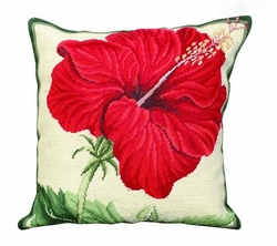 China Rose Needlepoint Pillow