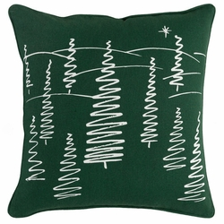 Christmas Trees Pillow Green <font color=cf2317> Sold Out</font>