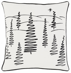 Christmas Trees Pillow White