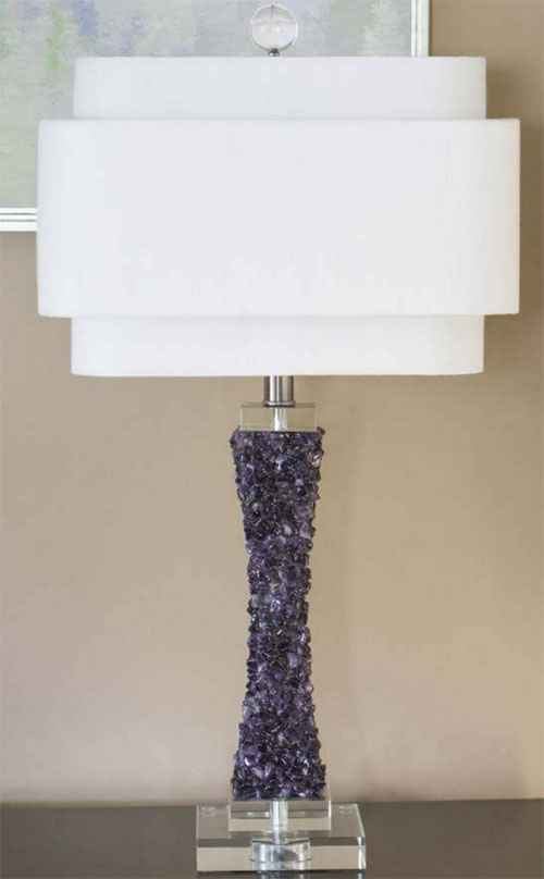Cienege Purple Quartz Table Lamp For Sale Cottage Amp Bungalow