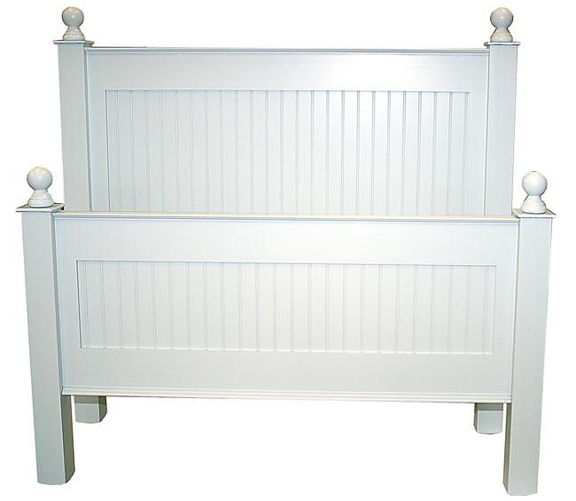 Classic Cottage Beadboard Bed Or Headboard For Sale   Cottage U0026 Bungalow