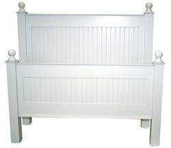 Classic Cottage Beadboard Headboard or Bed