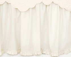 Classic Ruffle Gathered Ivory or White Bed Skirt<font color=cf2317> 20% Off</font>