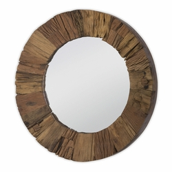 Concave Reclaimed Wood Mirror<font color=a8bb35> NEW</font>