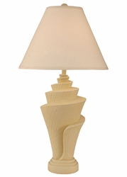 Conch Shell Pot Lamp in Weathered Yellow