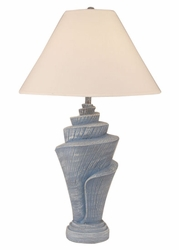 Conch Shell Pot Lamp in Wedgewood Blue