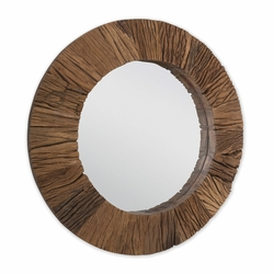 Convex Reclaimed Wood Mirror<font color=a8bb35> NEW</font>