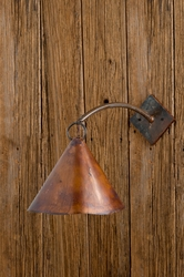 Copper Cone Sconce Pendant Light