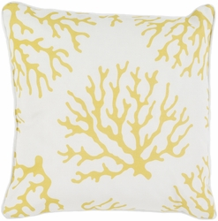Coral Outdoor Pillow in Yellow